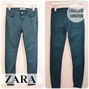 Zara • Green Skinny Jeans [Jeans]